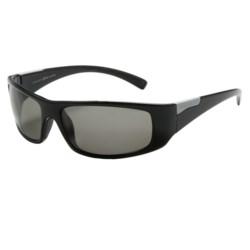 Serengeti Fasano Sunglasses - Polarized Polar PhD Lenses in Shiny Black/Cool Photo Grey