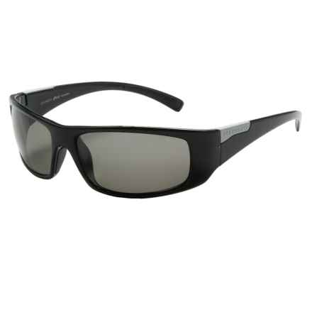 Serengeti Fasano Sunglasses - Polarized Polar PhD Lenses in Shiny Black/Cool Photo Grey - Closeouts