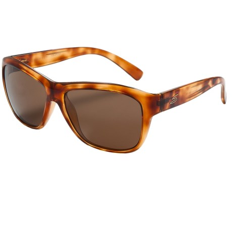 Serengeti Gabriella Sunglasses - Polarized Photochromic Glass Lenses in Shiny Honey Tortoise/Drivers