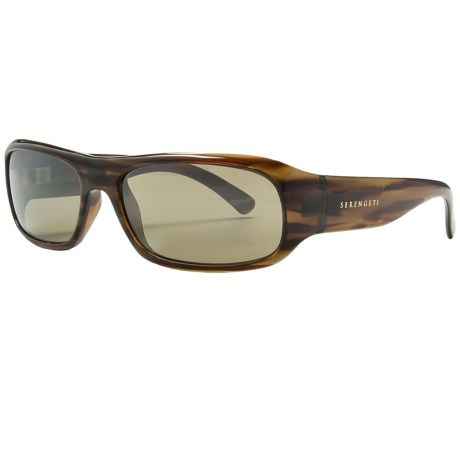 Serengeti Genova Sunglasses - Photochromic Glass Lenses (For Men and Women) in Dark Stripe Tortoise/555Nm