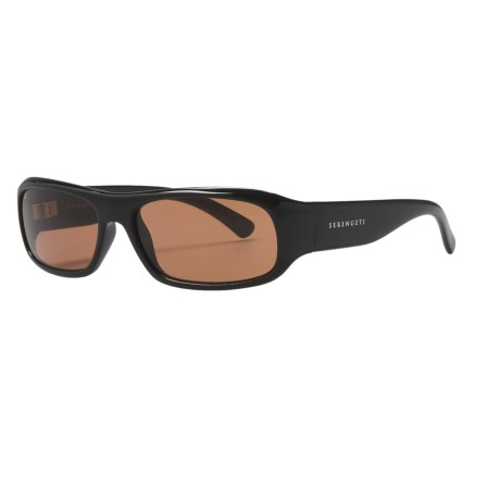 Serengeti Genova Sunglasses - Photochromic Glass Lenses (For Men and Women) in Shiny Black/Drivers