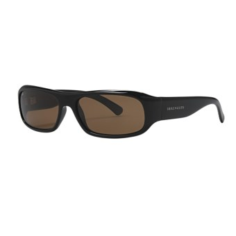 Serengeti Genova Sunglasses - Polarized, Photochromic Glass Lenses (For Women) in Shiny Black/Drivers