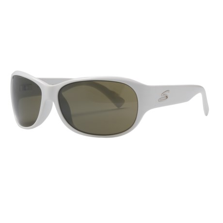 Serengeti Giada Sunglasses - Polarized, Photochromic Glass Lenses (For Women) in Pearl White/555Nm