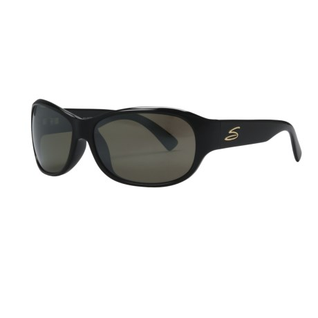 Serengeti Giada Sunglasses - Polarized, Photochromic Glass Lenses (For Women) in Shiny Black/555Nm