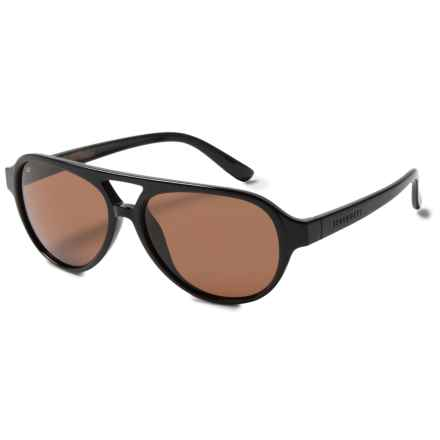 Serengeti Giorgio Sunglasses - Polarized, Photochromic Glass Lenses in Shiny Black/Brown Wood/Photochromic Polarized Driv - Closeouts