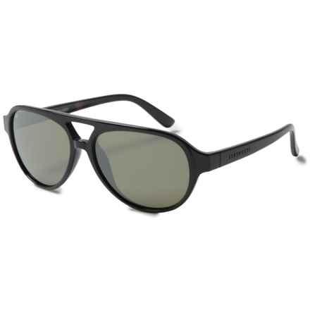 Serengeti Giorgio Sunglasses - Polarized, Photochromic Glass Lenses in Shiny Black Tortoise/Photochromic Polarized 555Nm - Closeouts