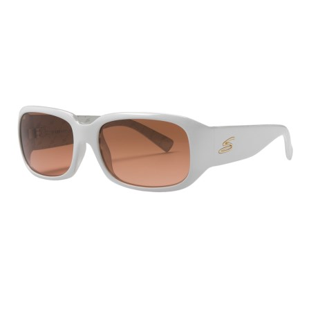 Serengeti Giuliana Sunglasses - Photochromic Glass Lenses (For Women) in Shiny White/Drivers Gradient