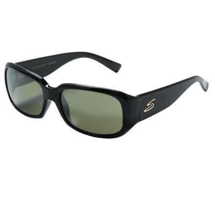 Serengeti Giuliana Sunglasses - Polarized, Photochromic Glass Lenses (For Women) in Shiny Black/555Nm - Closeouts