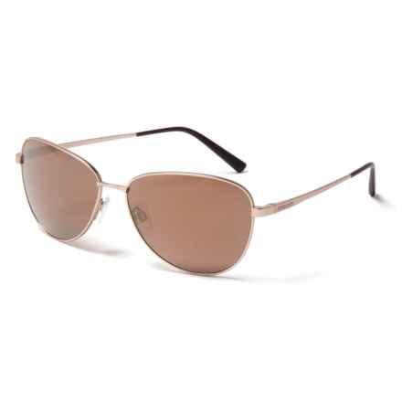 Serengeti Gloria Sunglasses - Polarized, Photochromic Glass Lenses (For Women) in Satin Soft Gold/Gold Mirror - Closeouts