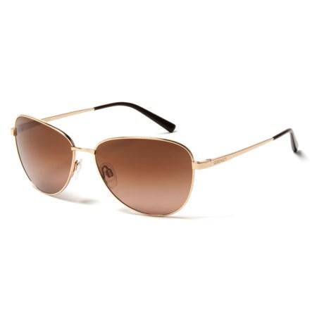Serengeti Gloria Sunglasses - Polarized, Photochromic Glass Lenses (For Women) in Shiny Bold Gold/Gradient