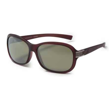 Serengeti Isola Sunglasses - Polarized Glass Lenses in Sanded Wine/555 Nm - Closeouts