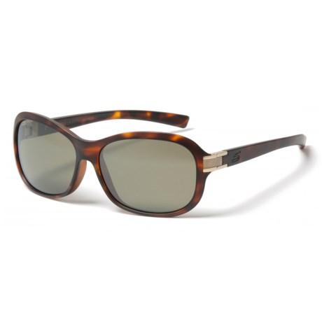 Serengeti Isola Sunglasses - Polarized, Photochromic 555nm Glass Lenses (For Women) in Satin Tortoise/Satin Brass