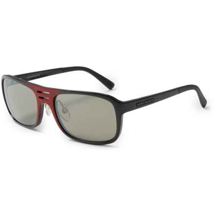 Serengeti Lorenzo Sunglasses - Photochromic Glass Lenses in Shiny Red Granite/555 Nm - Closeouts