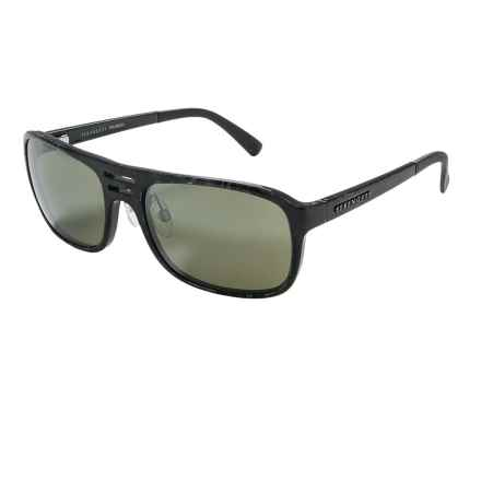 Serengeti Lorenzo Sunglasses - Polarized Glass Lenses in Shiny Grey Marble/555 Nm - Closeouts