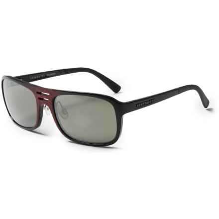 Serengeti Lorenzo Sunglasses - Polarized, Photochromic Glass Lenses in Shiny Red Granite/555 Nm - Closeouts