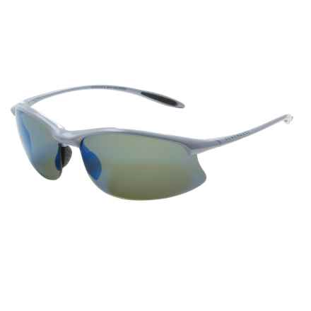 Serengeti Maestrale Sunglasses - Polarized, Photochromic PhD Lenses in Metalic Silver/555Nm Blue Mirror - Closeouts