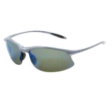 Serengeti Maestrale Sunglasses - Polarized, Photochromic PhD Lenses in Metalic Silver/555Nm Blue Mirror - Closeouts