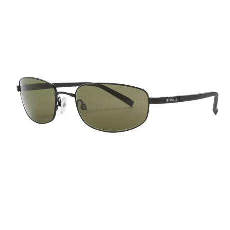 Serengeti Manetti Sunglasses - Polarized, Photochromic, Polar PhD Lenses in Satin Black/Phd 555
