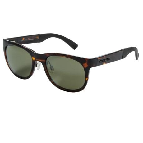 Serengeti Milano Sunglasses - Polarized, Photochromic Glass Lenses in Dark Tortoise/555 Nm