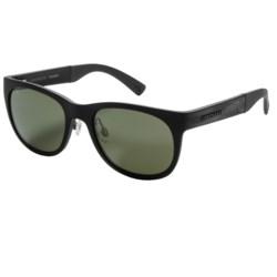 Serengeti Milano Sunglasses - Polarized, Photochromic Glass Lenses in Metallic Stripe/555 Nm