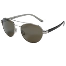 Serengeti Mondello Sunglasses - Polarized, Photochromic Glass Lenses in Shiny Silver/Black Ivory 555 Nm - Closeouts