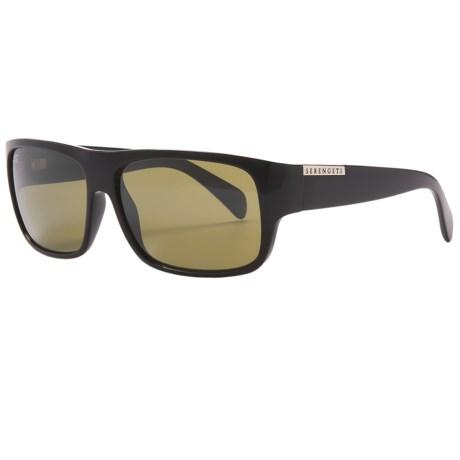 Serengeti Monte Sunglasses - Polarized, Photochromic in Shiny Black/555 Nm