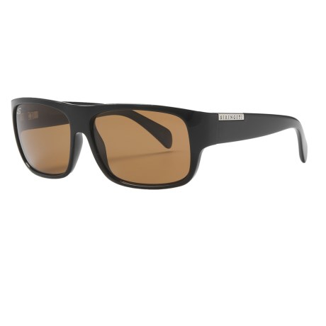 Serengeti Monte Sunglasses - Polarized, Photochromic in Shiny Black/Drivers