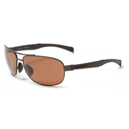 Serengeti Norcia Sunglasses - Polarized, Photochromic Glass Lenses in Satin Espresso/Brown - Closeouts