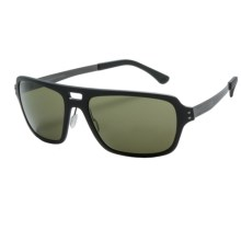 Serengeti Nunzio Sunglasses - Polar PhD Photochromic Lenses in Satin Black/555Nm - Closeouts