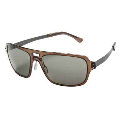 Serengeti Nunzio Sunglasses - Polarized, Photochromic Polar PhD Lenses in Crystal Dark Brown/Cool Photo Gray - Closeouts