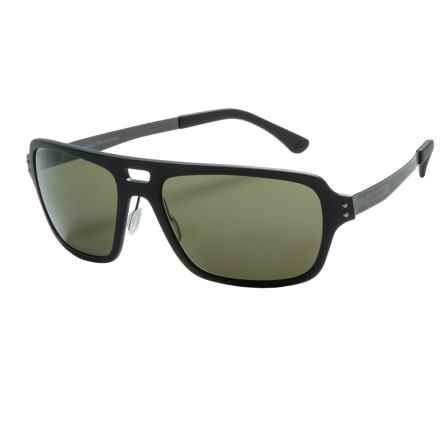 Serengeti Nunzio Sunglasses - Polarized, Photochromic Polar PhD Lenses in Satin Black/555Nm - Closeouts