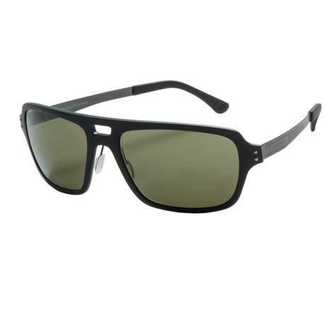 Serengeti Nunzio Sunglasses - Polarized Polar PhD Lenses in Satin Black/555Nm