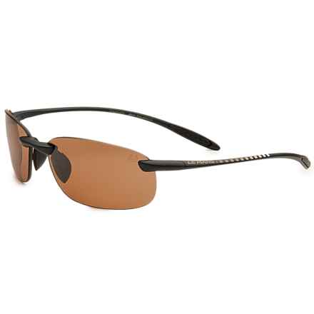 Serengeti Nuvola 24h Le Mans Sunglasses - Polarized, PhD Photochromic Lenses in Satin Black/Polar Phd Drivers - Overstock