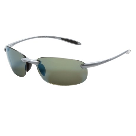 Serengeti Nuvola Sunglasses - Polarized, Photochromic in Metalic Silver/555Nm Blue Mirror
