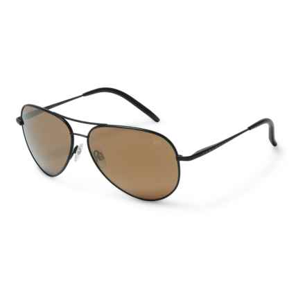 Serengeti Panarea 6 Base Sunglasses - Polarized in Satin Black/Gold Mirror - Overstock