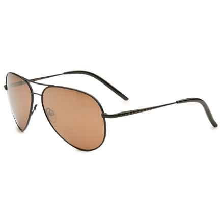 Serengeti Panarea 6 Base Sunglasses - Polarized, Photochromic in Satin Black/Gold Mirror - Overstock