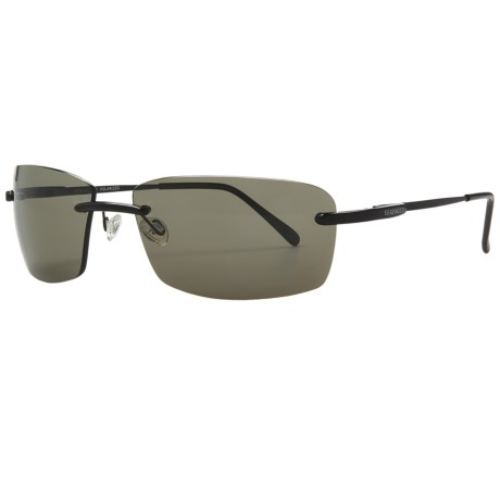 Serengeti Parma Sunglasses - Polarized, Photochromic, Polar PhD Lenses in Satin Black/Phd Cpg