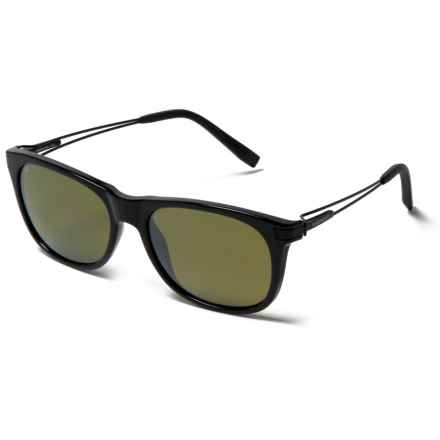 Serengeti Pavia Sunglasses - Polarized in Shiny Black - Closeouts