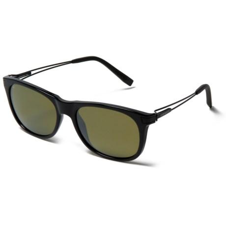 Serengeti Pavia Sunglasses - Polarized in Shiny Black