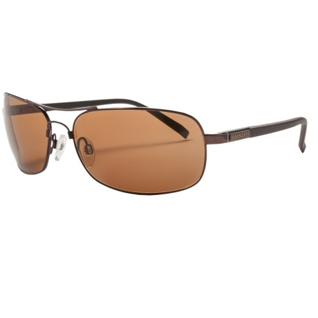 Serengeti Rimini Sunglasses - Polarized, Photochromic, Polar PhD Lenses in Espresso/Phd Drivers