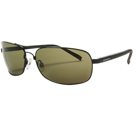 Serengeti Rimini Sunglasses - Polarized, Photochromic, Polar PhD Lenses in Satinmatte Black/Phd 555Nm