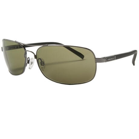 Serengeti Rimini Sunglasses - Polarized, Photochromic, Polar PhD Lenses in Shiny Gunmetal/Phd 555Nm