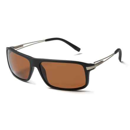 Serengeti Rivoli Sunglasses - Polarized Glass Lenses in Satin Black/Drivers - Closeouts