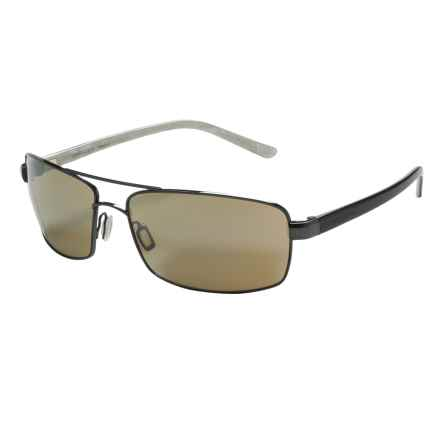 Serengeti San Remo Sunglasses - Photochromic in Shiny Hematite Black Ivory/555 Nm - Closeouts
