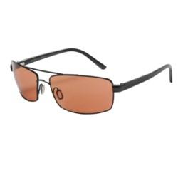 Serengeti San Remo Sunglasses - Photochromic in Shiny Hematite Grey Stripe/Drivers