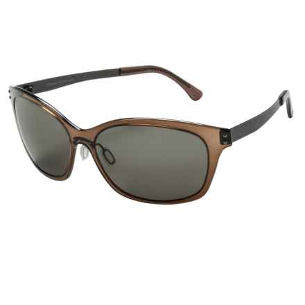 Serengeti Sara Sunglasses - Polarized, Photochromic Polar PhD Lenses (For Women) in Crystal Dark Brown/Cool Photo Grey - Closeouts