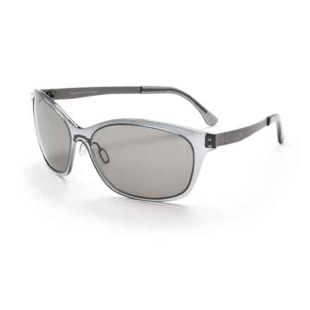 Serengeti Sara Sunglasses - Polarized, Photochromic Polar PhD Lenses (For Women) in Crystal Dark Grey/Cool Photo Grey - Closeouts