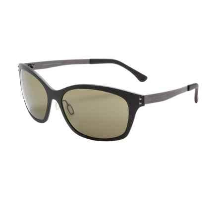 Serengeti Sara Sunglasses - Polarized, Photochromic Polar PhD Lenses (For Women) in Satin Black/555Nm - Closeouts