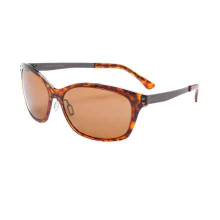 Serengeti Sara Sunglasses - Polarized Polar PhD Lenses (For Women) in Shiny Dark Tortoise/Drivers - Closeouts