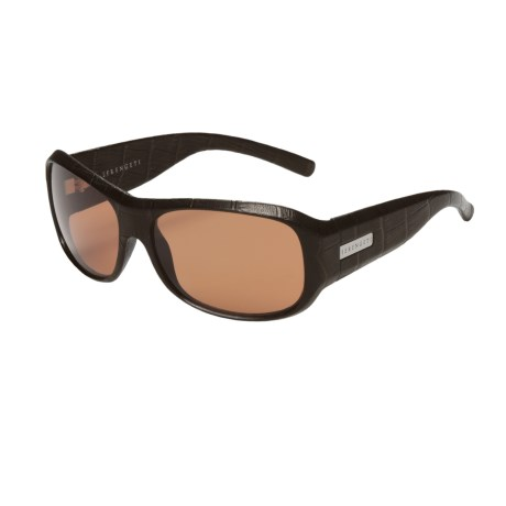Serengeti Savona Sunglasses - Photochromic (For Women) in Black Genuine Leather/Drivers
